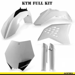 KIT BLANC EXC 2008-2011 PLASTIQUE + DECOS