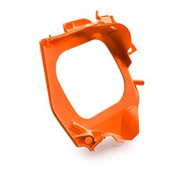 Orange-Blanc Partie avant du boîtier de filtre à air
