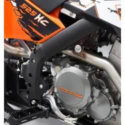Protège cadre Noir XC 525 SX 450-505 2007-2012