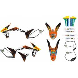 2012-2013 EXC 125-250-300-350-450-500 FACTORY ENDURO GRAPHICS KIT