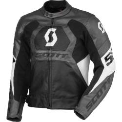 Blouson SCOTT Track Leather gris / noir 2013