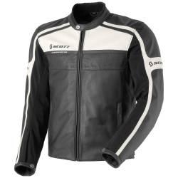 Blouson Scott Buster Leather noir et blanc 2013