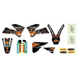 EXC 2003-2007 125-200-250-300-400-450-525 Kit Deco Black