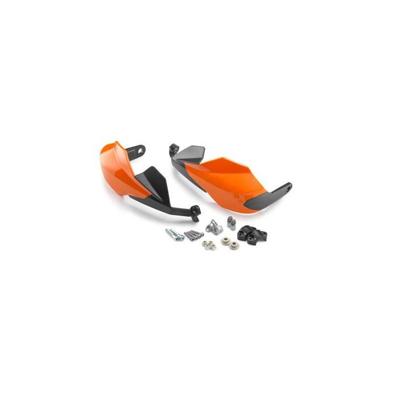 protege main ktm noir ou orange avec kit fixation livrer pour guidon diametre 22 et 28protege. Black Bedroom Furniture Sets. Home Design Ideas
