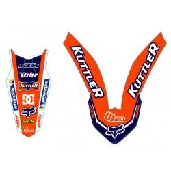 EXC 2008-2011 125-250-300-400-450-530 Kit Déco Team KTM