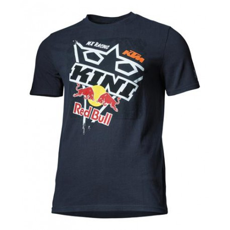 T SHIRT RED BULL KTM SQUARE DARK BLUE