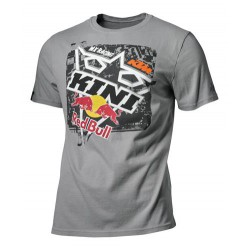 T SHIRT RED BULL KTM SQUARE GREY