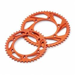KIT CHAINE COMPLET COURONNE ALU ORANGE