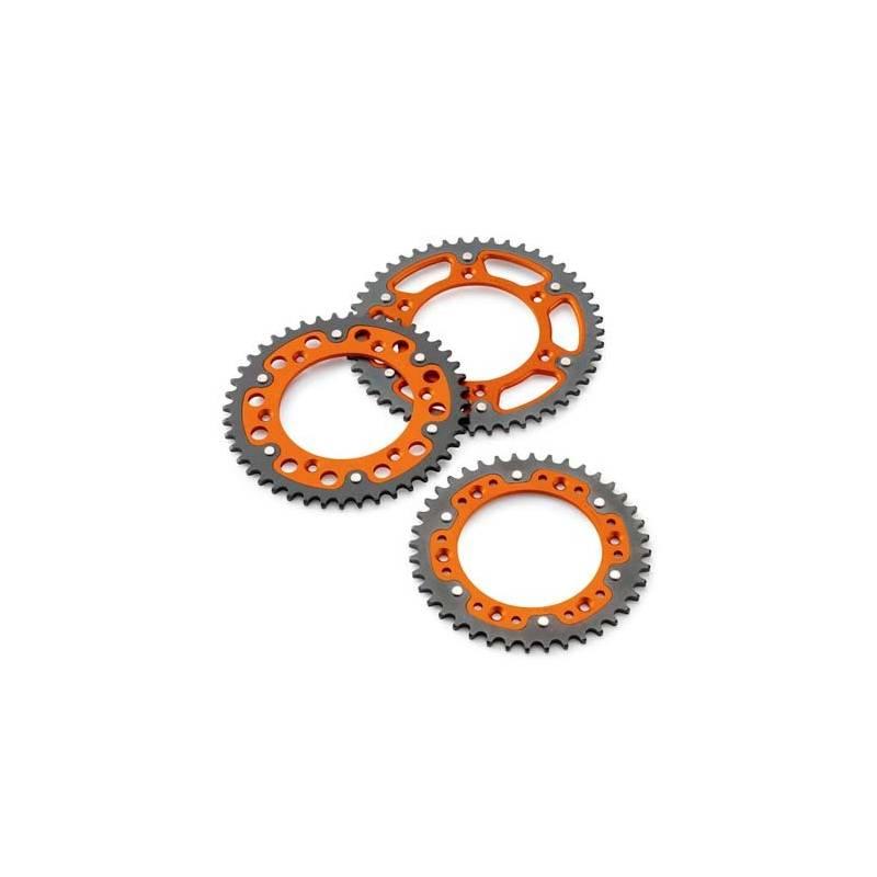 kit chaine complet couronne acier orange couronne acier origine ktm 2 temps exc sx 1990. Black Bedroom Furniture Sets. Home Design Ideas